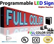 Bright Led Sign Full Color 6x 76 Lan Pc Programmable Outdoor/ Indoor Business