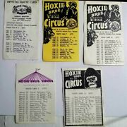 5-hoxie Brothers Circus Official Route Cards   Mc-1 Ar