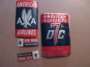 Lot Of American Airlines Vintage Baggage Stickers Great Aa Logo- Dc-7 Air Mail