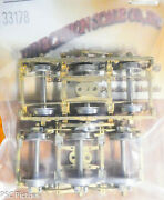 Precision Scale Ho 33178 Trucks Hw 2411 3-axle Equalized And Sprung 1 Pair