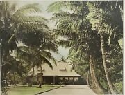 1920and039s Hand Colored Photograph Of Niumalu Hotel Hawaii By Rw Oakes