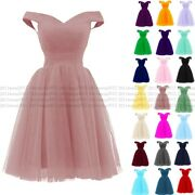 Knee Length Evening Prom Party Dress Bridesmaid Dresses Ball Gown Cocktail 6-24