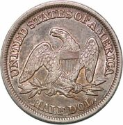 S7255 Usa 50 Cents Half Dollar Liberty Seated 1846 Tall Date Silver Au