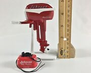Miniature Outboard, Toy Boat Motor, Red 1957 Johnson 18 Hp And Matching Gas Tank