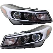 Headlight Set For 2017-2018 Kia Forte Left And Right With Bulb 2pc