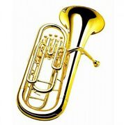 Yamaha Yep-321 Bb Euphonium Clear Lacquer Yellow Brass W/ Case Ems Tracking New