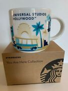 Universal Studios Hollywood Starbucks Yah You Are Here Mug Cup Nib Sold Out Rare