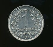 Germany 1933-g 1 Reichsmark Germany Nice Detailed Coin H