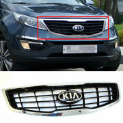 Parts Front Hood Radiator Grille Chrome Line For Kia 2011-15 Sportage T-gdi