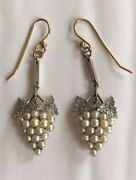 15ct Gold Platinum And Pearl Antique Earrings