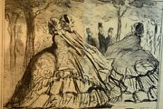 Honore Daumier 19th Century Lithograph Of Woman From Actualities Series