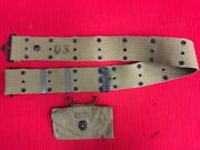 U.s. Wwii Army Belt Kellman 43 And Wwii Army First Aid Pouch R.m.t. Co.