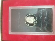 1971 S Eisenhower Liberty 40 Silver Proof Dollar In Plastic Case Brown Box
