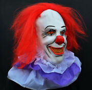 Halloween Killer Clown Costume Latex Mask - Stephen Kingand039s It Classic Pennywise