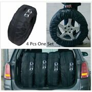 4pc Car Suv 13-19 Inch Tire Seasonal Storage Bags Protector Carry Support Holder