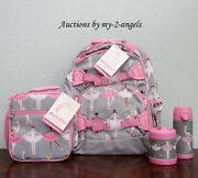 Pottery Barn Kid Glitter Ballerina Large Backpack Lunch Bag Water Bottle Thermos