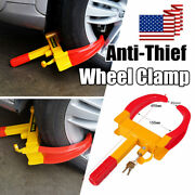 Anti Theft Wheel Clamp Lock Boot Tire Claw Trailer Auto Car Truck Towing Suv Rv