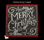 Nwt Pottery Barn Holiday Merry Christmas Pillow Cover 20x20 Chalkboard Sold Out