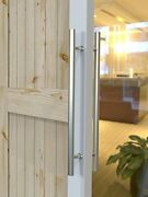 Diyhd Stainless Steel Pull Sliding Barn Glass Wood Door Two-side Handle Satin