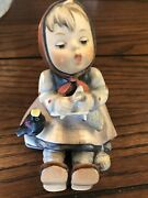 M.j. Hummel Goebel Happy Pastime Girl Stamped 69  3 3/4 Inches Tall