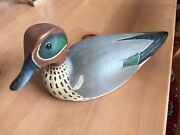 Duck Decoy, Green Winged Teal By Mike Hayden 1988