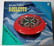 Vintage Electro Roulette Game And 100 Chips Fully Automatic- New And Works