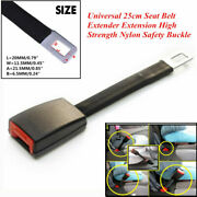 25cm High Strength Nylon Car Off Road Seat Belt Extender Extension Safety Buckle