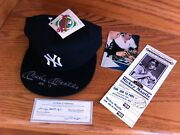 Mickey Mantle No. 7 Signed New York Yankees Cap Hat W/ Proof And Coa