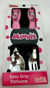 Disney Minnie Mouse Flatware Spoon And Folk For Your Dinnerwear-new