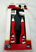 Disney Mickey Mouse Red Flatware Spoon And Folk For Your Dinnerwear-new