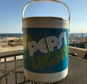 Vintage 1976 Pepsi Light Beach/barbecue Cooler 14 Bucket W/ Tray And Lid