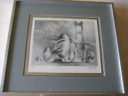 John Kelly San Francisco Golden Gate Bridge And Yacht Print Signed And Numbered