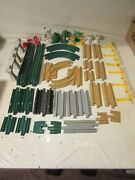 Fisher Price Geotrax Road And Rail Track Straights Curves Signs Trees Lot 41 Pcs