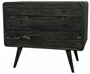 36 W Set Of 2 Mia Side Table Solid Exotic Mindi Wood Modern Contemporary
