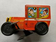 Mint Yone Tin Wind Up Clippity Clop Car From Adult Collector No. 2077