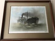 John Kelly China Tanker Singed And Numbered Framed Fine Art Lithograph Print