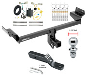 Trailer Tow Hitch For 16-18 Lincoln Mkx Complete Package W/ Wiring And 1-7/8 Ball