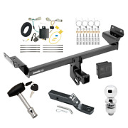 Trailer Tow Hitch For 16-18 Lincoln Mkx Delux Package W/ Wiring And 2 Ball And Lock
