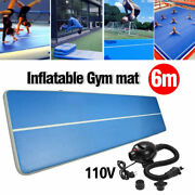 Inflatable Gym Mat Air Tumbling Track For Gymnastics Cheerleading With 110v Pump
