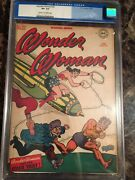 Wonder Woman 22 Cgc 8.5 Cr/ow The Color Thief Unpressed Old Label Beauty