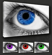 Beautiful Eye Close Up Canvas Wall Art Print Picture Many Colours To Choose