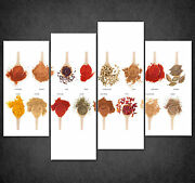 Spoons Full Of Spices Kitchen Design Cascade Canvas Print Wall Art Ready To Hang
