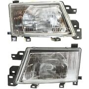 Headlight Set For 99-2000 Subaru Forester Left And Right With Bulb 2pc