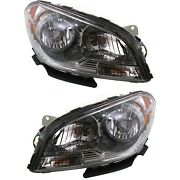 Headlight Set For 2008-2012 Chevrolet Malibu Left And Right With Bulb Capa 2pc