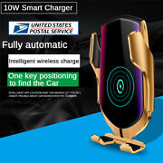 10w Car Qi Wireless Fast Charger Phone Holder Gps Locator For Iphone Xs Samsung
