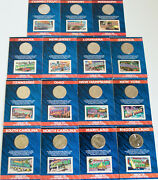 15 Us Mint Usps State 25c And 37c State Stamp Packs Md Ri Sc Nc Ny Tn Oh Nj Ga Ct