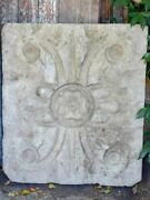 Large Salvaged French Ceiling Plaster Mold - Cement