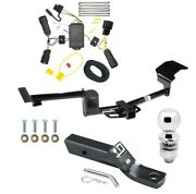 Trailer Tow Hitch For 10-14 Lincoln Mkt Complete Package W/ Wiring Kit And 2 Ball