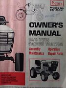 Sears Suburban 18/6 Garden Tractor Owner Parts And Onan Engine Service 2 Manuals