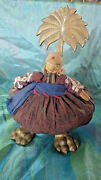 Assemblage Mixed Media Art Guatemalan Hand Crafted Doll With Brass Attachments